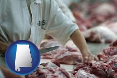 alabama a meat processing worker