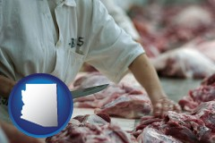 arizona a meat processing worker