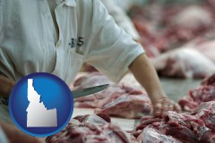 idaho a meat processing worker