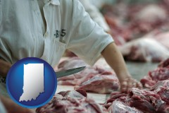 indiana a meat processing worker