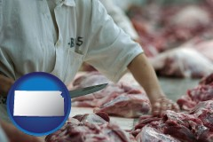 kansas a meat processing worker