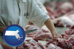 massachusetts a meat processing worker