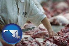 maryland a meat processing worker