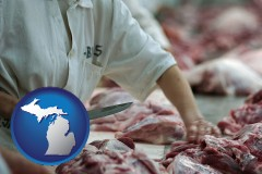 michigan a meat processing worker