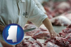 mississippi a meat processing worker